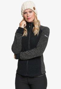 Roxy - MIT REISSVERSCHLUSS  - Fleece jacket - true black - 3