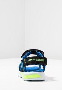 Skechers - E-II BEACH GLOWER - Outdoorsandalen - black/blue/royal/lime - 3
