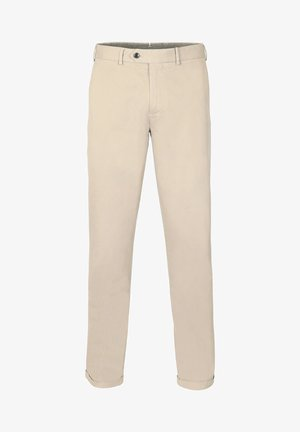 WITH DARTS - Trousers - beige
