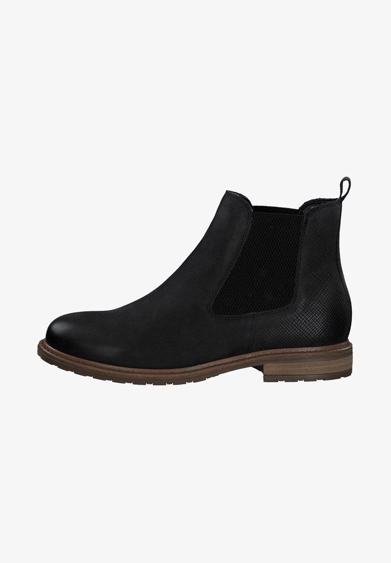Tamaris - Ankle boots - black nubuc