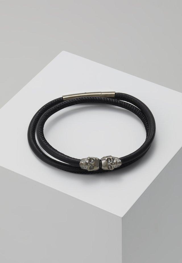 SKULL WRAP AROUND BRACELET - Armbånd - black