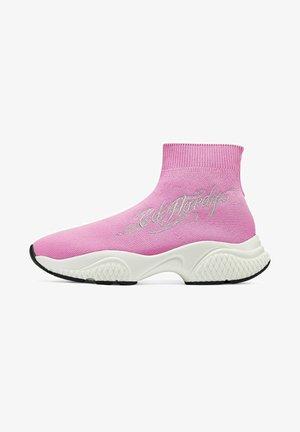 SCRIPT ED - Sneakers hoog - pink silver