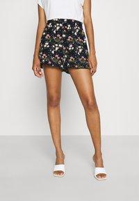 ONLY - ONLNOVA LUX FRILL  - Shorts - black/venus - 0