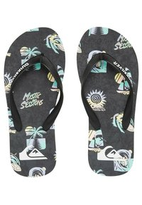 Quiksilver - T-bar sandals - black/grey/grey - 1