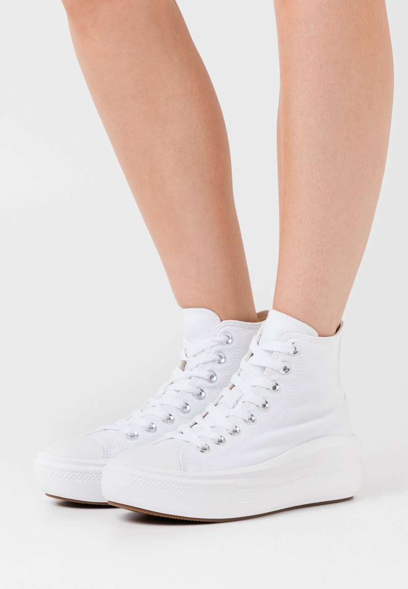 Converse - CHUCK TAYLOR ALL STAR MOVE - Zapatillas altas - white/natural ivory/black