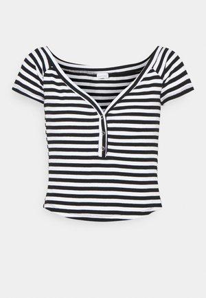 STREIFEN - Print T-shirt - schwarz/weiß