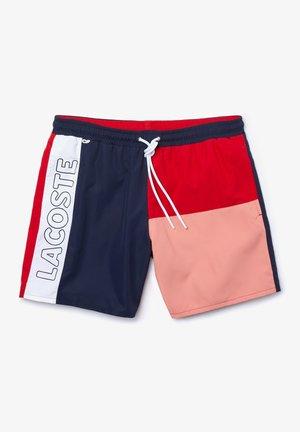 MH6276-00 - Short de bain - bleu marine / rouge / rose / blanc