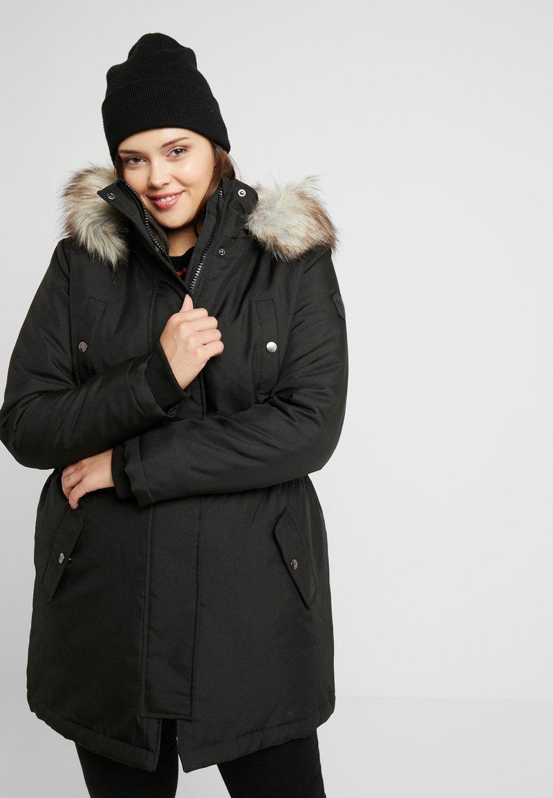 ONLY Carmakoma - CARIRENA COAT - Vinterkåpe / -frakk - black