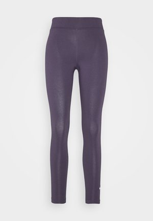 Leggings - dark raisin/white