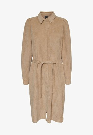CORD - Shirt dress - beige
