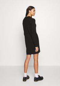 Even&Odd - Strikket kjole - black - 2