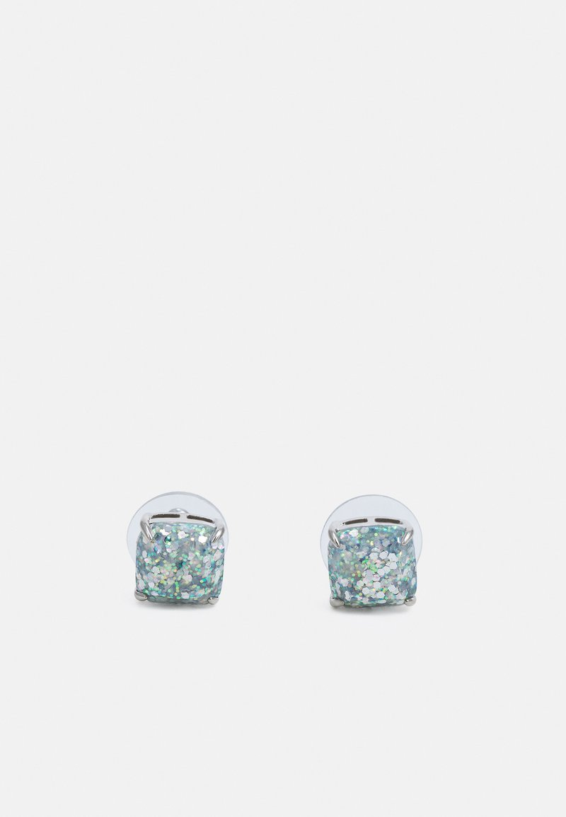 kate spade new york - MINI SMALL SQUARE STUDS - Earrings - silver-coloured
