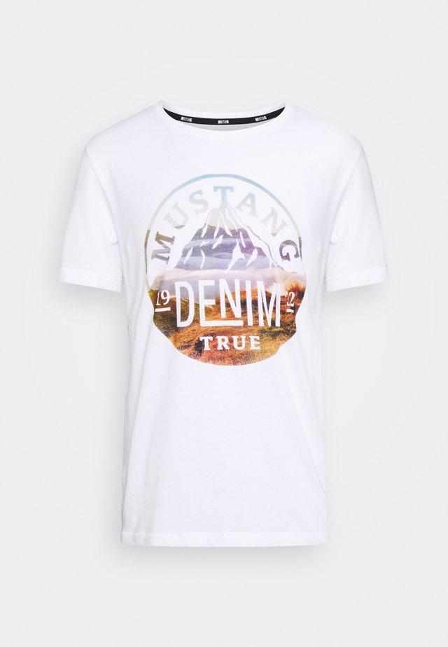 ALEX - Camiseta estampada - white
