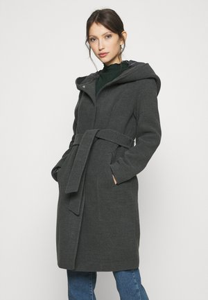 VMCALALYON HOOD - Classic coat - dark grey melange