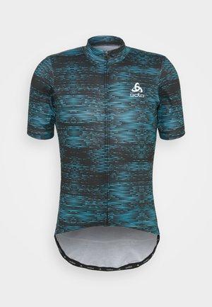 STAND UP COLLAR FULL ZIP  - Cyklistický dres - mykonos blue