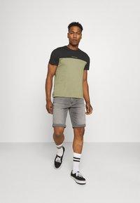 Calvin Klein - COLOR BLOCK - Print T-shirt - green - 1
