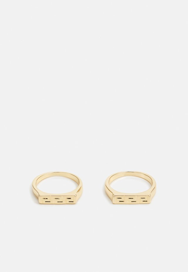 GREEK KEY BAND 2 PACK - Ring - gold-coloured