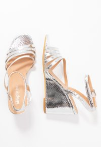 Simply Be - WIDE FIT AVA - High heeled sandals - silver