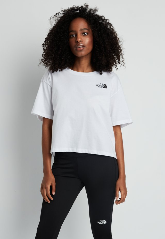 CROPPED SIMPLE DOME TEE - T-shirt med print - white