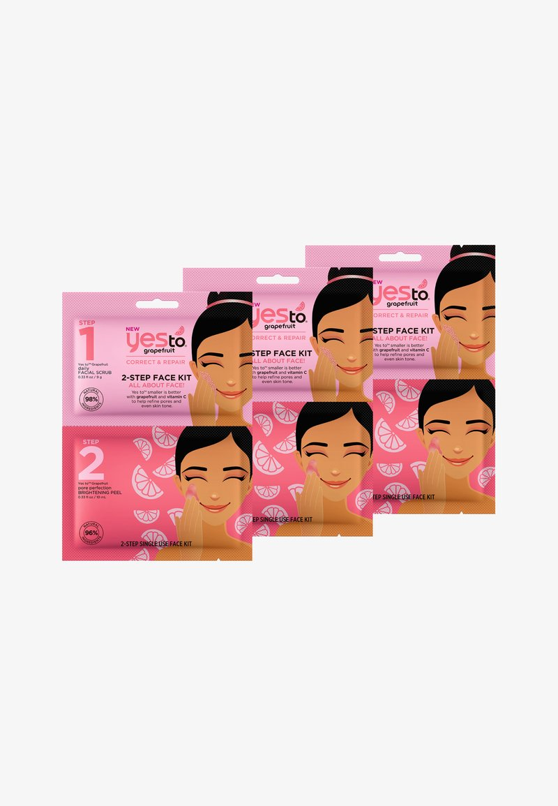 Yes To - YES TO GRAPEFRUIT 2-STEP FACE KIT 3 PACK - Face mask - -