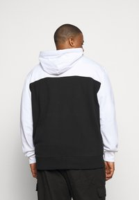 Calvin Klein - COLOR BLOCK ZIP HOODIE - Zip-up hoodie - black