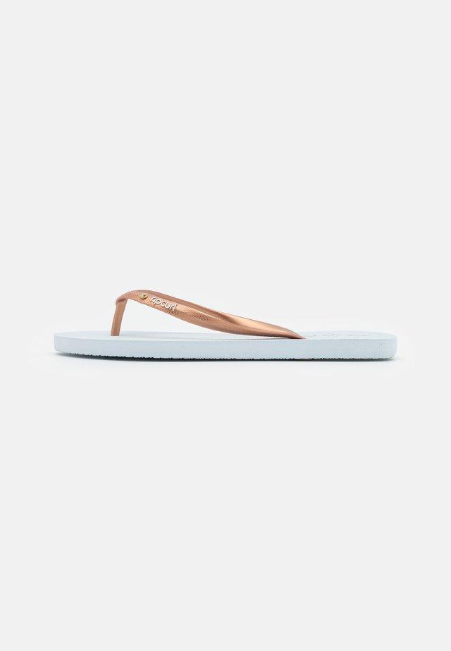 SCRIPT WAVE - T-bar sandals - white