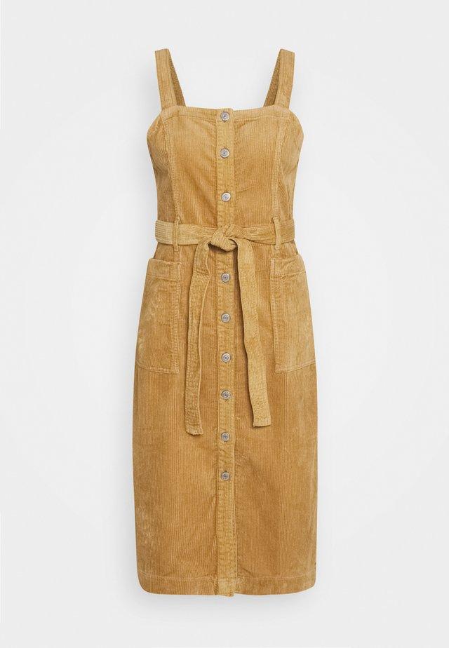 CALLA DRESS - Vestito di jeans - iced coffee