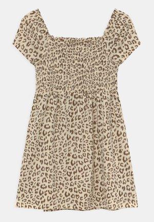GIRLS SMOCKED  - Jersey dress - beige