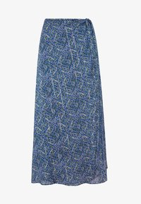 OYSHO - LILAC FLORAL SARONG SKIRT - A-line skirt - dark blue - 6