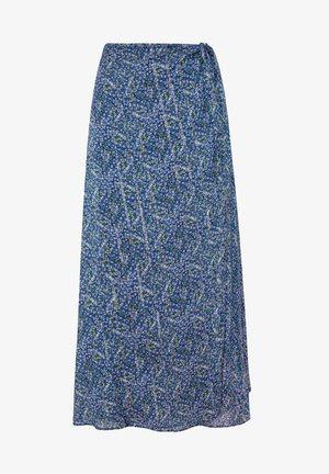LILAC FLORAL SARONG SKIRT - Áčková sukně - dark blue