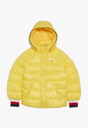 HIGH SHINE PUFFER - Winter jacket - yellow