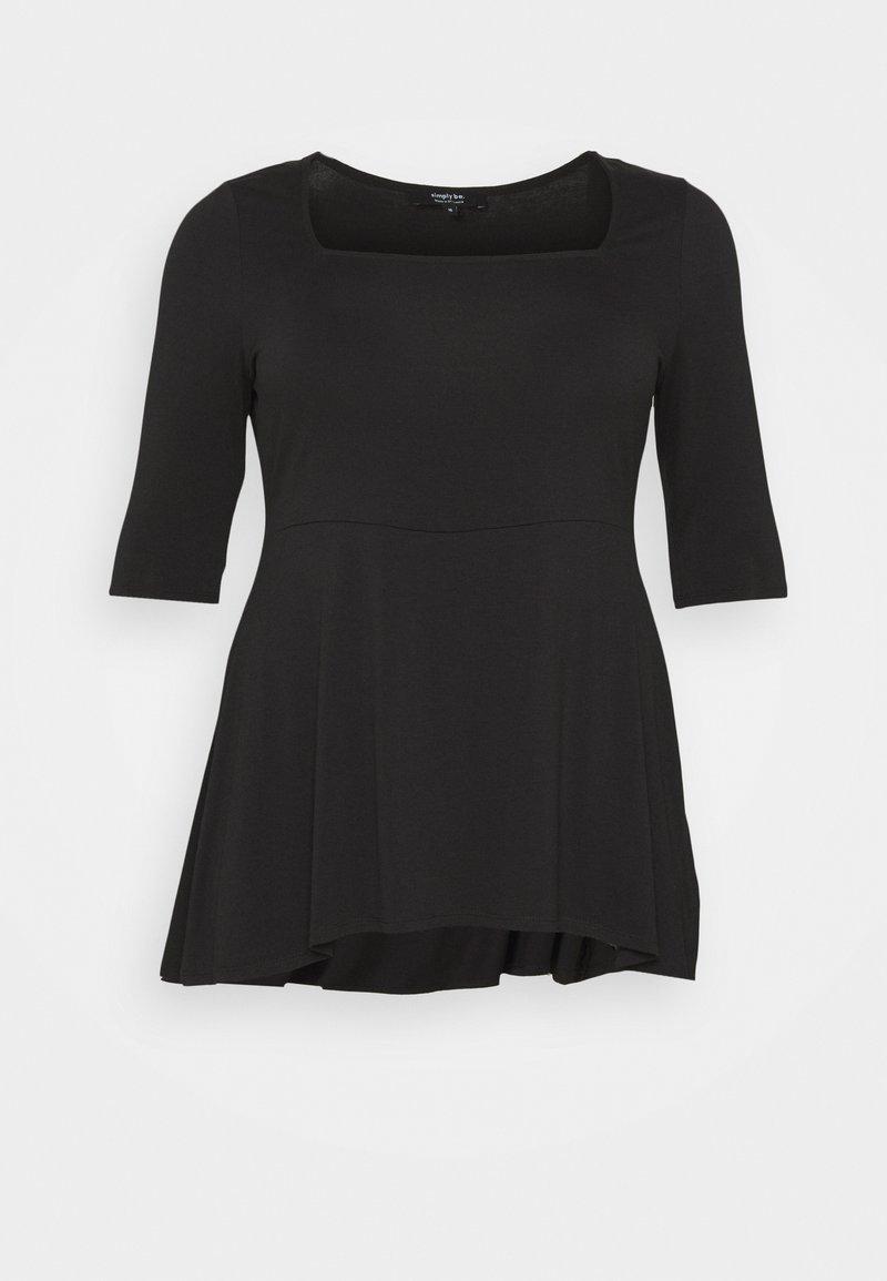 Simply Be - SQUARE NECK TUNIC - Basic T-shirt - black