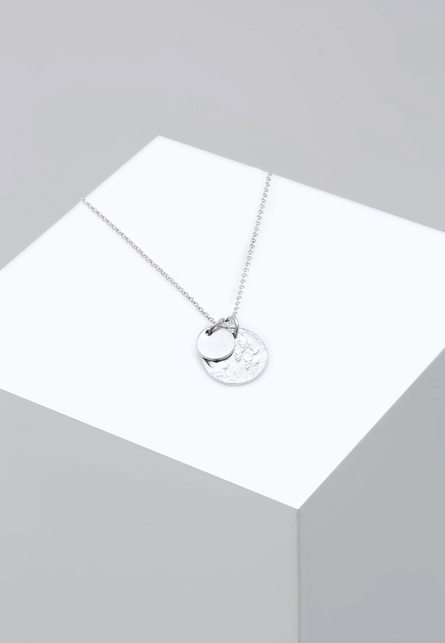PLÄTTCHEN GEO - Necklace - silver-coloured