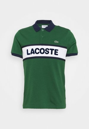 BLOCK LOGO - Polo shirt - green/white/navy blue