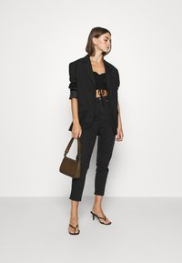 Nly by Nelly - CROPPED DRAWSTRING - Long sleeved top - black - 1