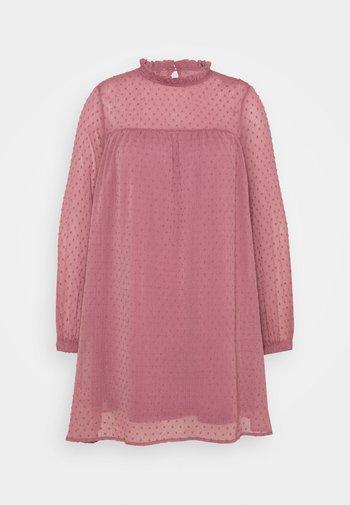 DOBBY SPOT SWING DRESS - Day dress - dusted rose