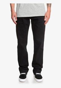 Quiksilver - SEQUEL - Straight leg jeans - black black - 0