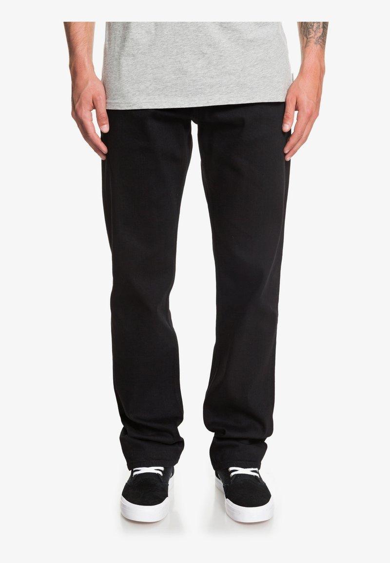 Quiksilver - SEQUEL - Straight leg jeans - black black
