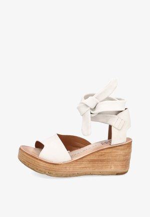Sandales compensées - bianco