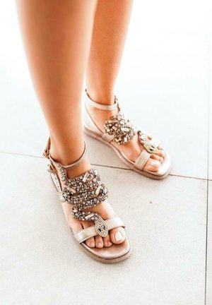 SIENA - Ankle cuff sandals - gold