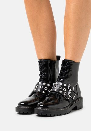ONLBOLD  LACE UP BOOT - Veterboots - black