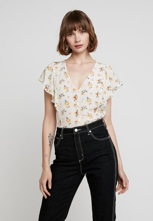 FLUTTER SLEEVE RETRO IN FLORAL - Blouse - ivory