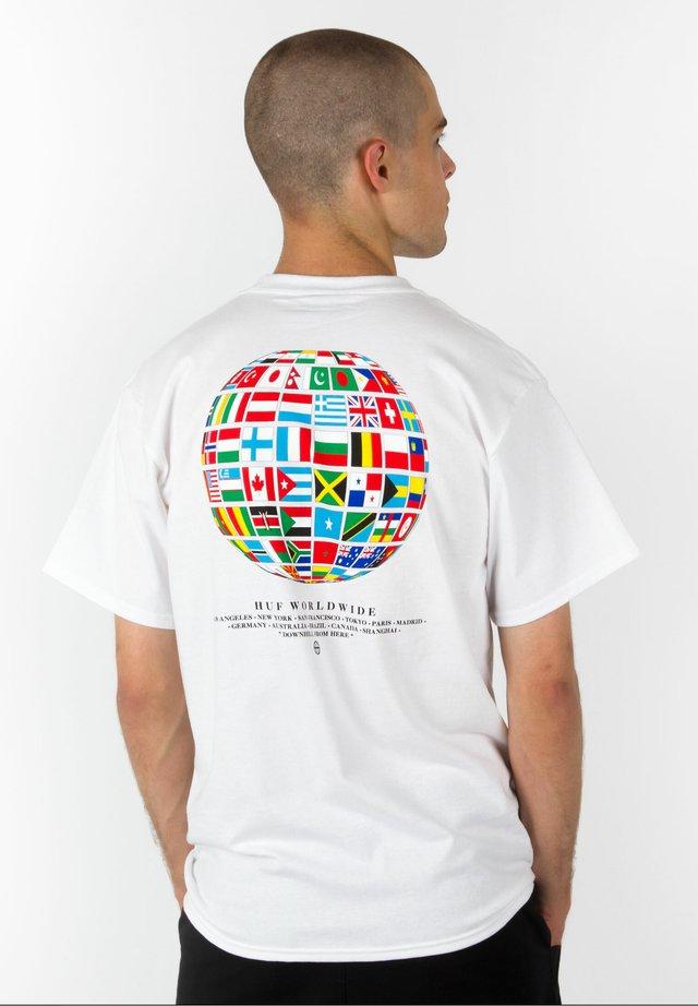 T-SHIRT GLOBAL WAVE - T-shirt imprimé - white