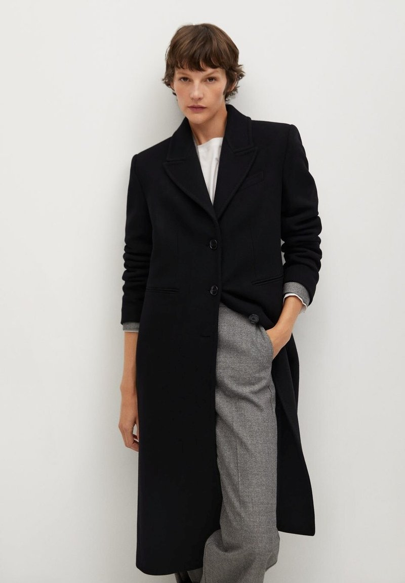 Mango - Classic coat - noir