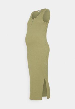 MATERNITY HENLEY DRESS - Sukienka z dżerseju - soft moss green