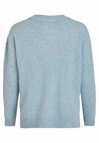 Vila - VIRIL OVERSIZE V NECK - Stickad tröja - ashley blue - 5