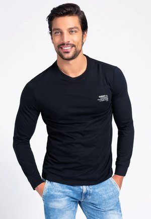 Maglietta a manica lunga - schwarz