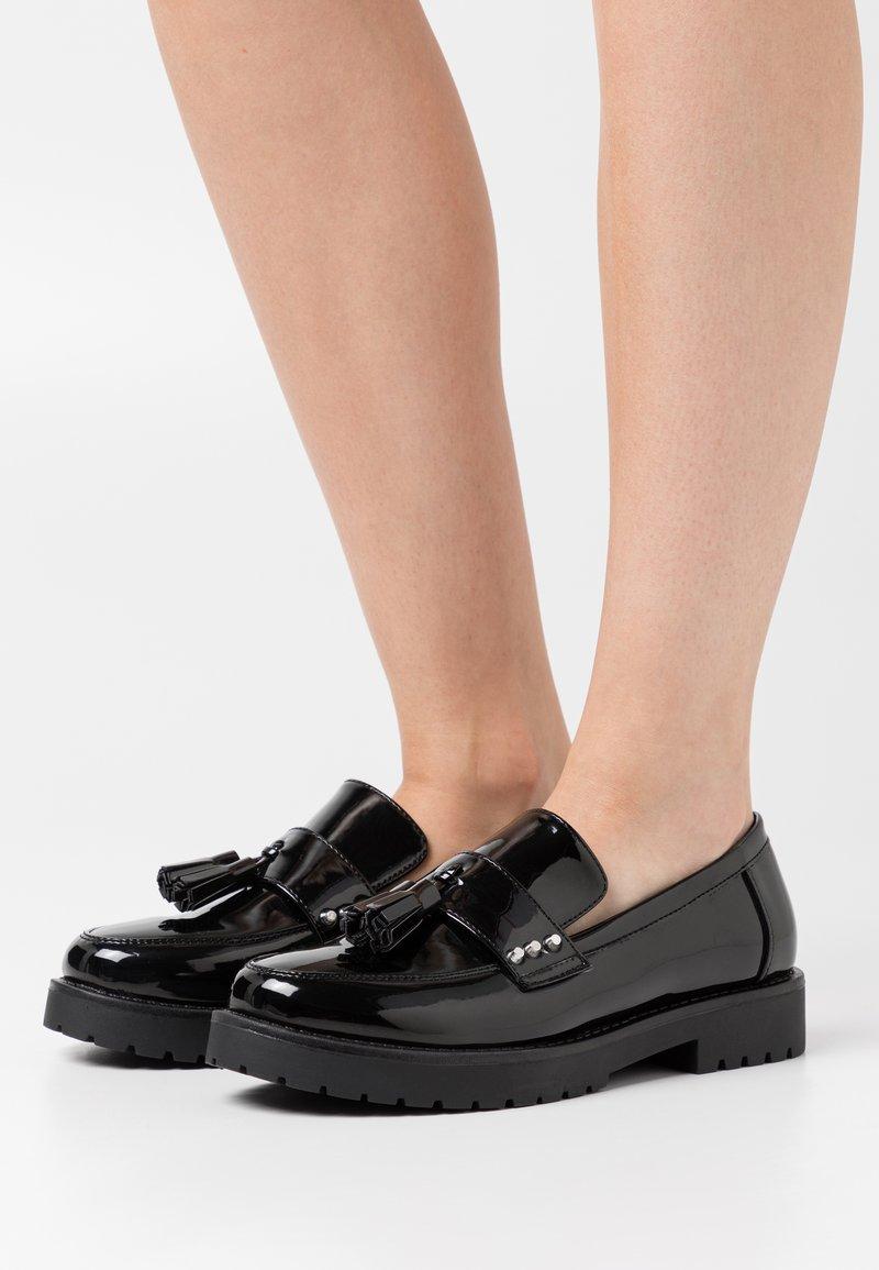 Glamorous Wide Fit - BOB - Nazouvací boty - black