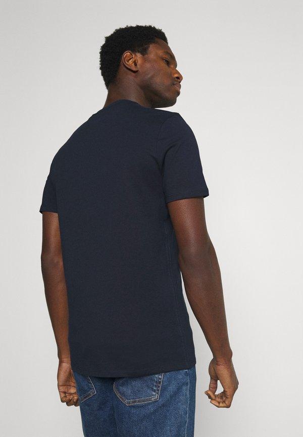 Guess ORIGINAL LOGO - T-shirt z nadrukiem - blue navy/granatowy Odzież Męska HQJG