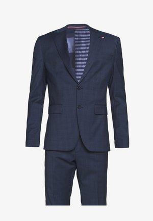 PEAK LAPEL CHECK SUIT SLIM FIT - Oblek - blue